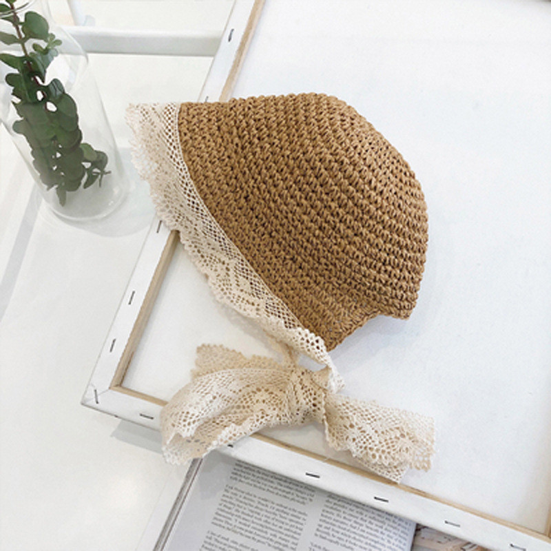 50-52cm 1-3y Enkelibb Children Summer Hat Baby Beautiful Bonnet Accessories Baby Sun Hat Lace Bonnet Holiday Cap Beach Cap Evident Effect