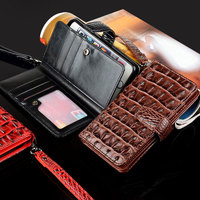 OCWAVE For Doogee X9 Mini Case Luxury Crocodile Snake Leather Flip Business Wallet Bag Cases For