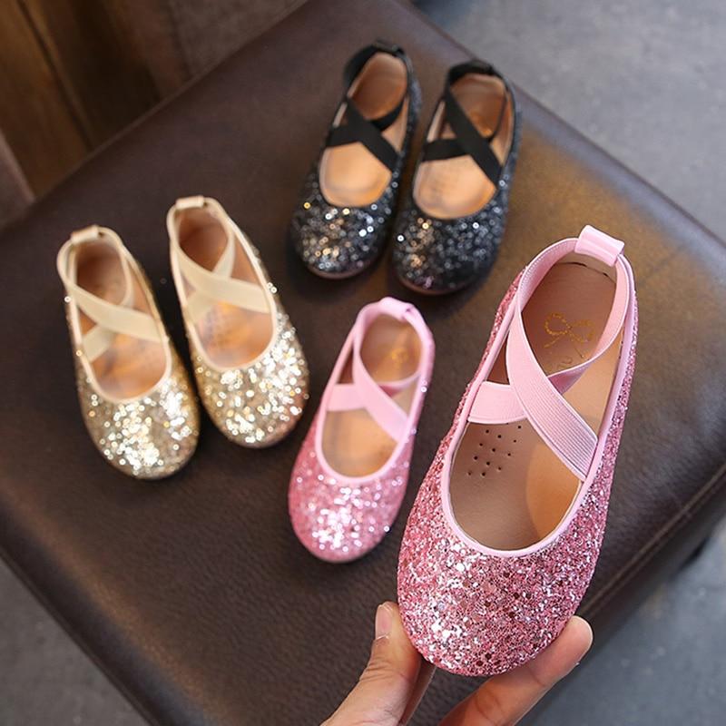 Girls Sparkly Glitter Ballet Flats 1