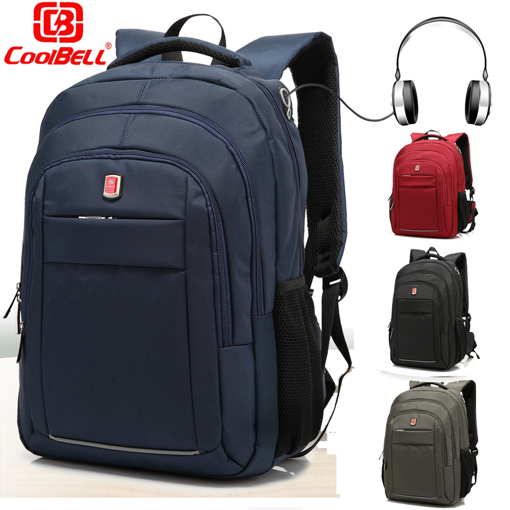 CoolBell Unisex Business Travel Daypack Lightweight Rucksack Sports Work Bag BookBag Laptop Backpack For 15 6