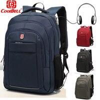 CoolBell Unisex Business Travel Daypack Lightweight Rucksack Sports Work Bag BookBag Laptop Backpack For 15 6