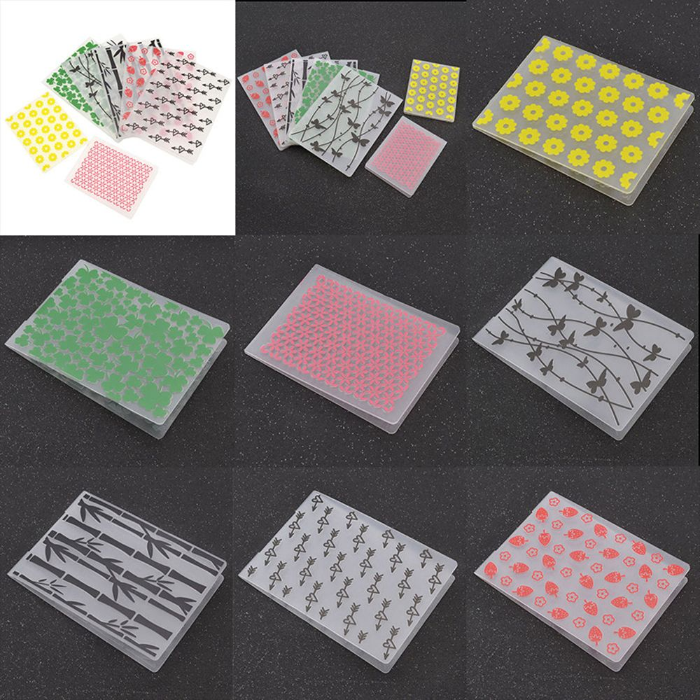 1 pc transparent plastic embossing stencils folder for Decor 6 template