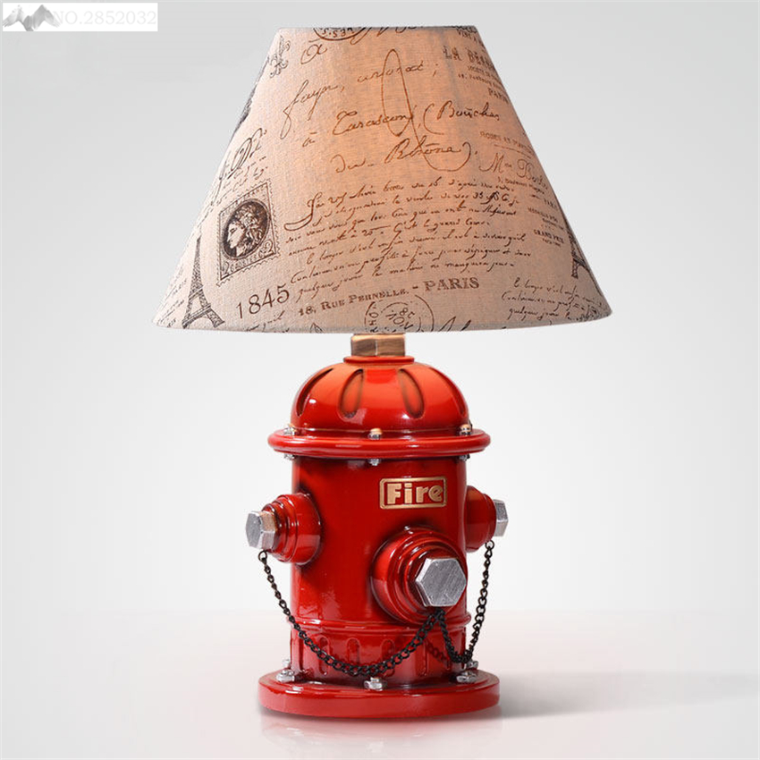 LFH Creative Fire Hydrant Pattern Table Lamps Saving Box Resin Household Decorative Article Table Lights for Bedroom Living RoomLFH Creative Fire Hydrant Pattern Table Lamps Saving Box Resin Household Decorative Article Table Lights for Bedroom Living Room