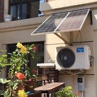 Solar Panel 12v 100w 3 Pcs Solar Home System 300W Solar Charge Controller 12v/24v 30A 3 In 1 Connector LED Lamp Motorhomes Car