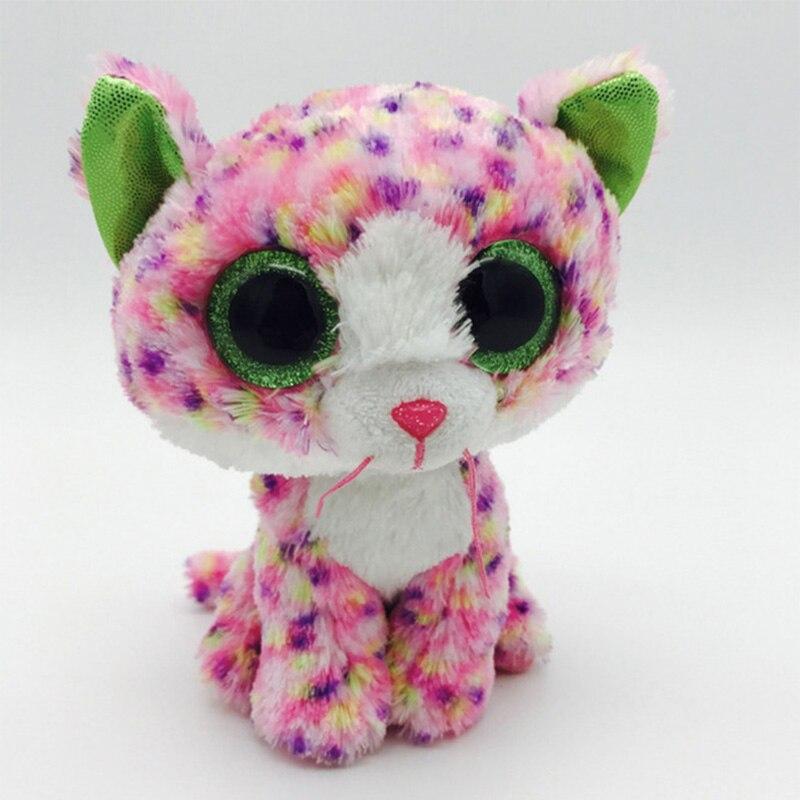 Новый Ty Beanie Боос серый Кот плюшевые игрушки куклы для маленьких девочек подарок на день рождения Набивные плюшевые игрушки 15 см большой Сре...