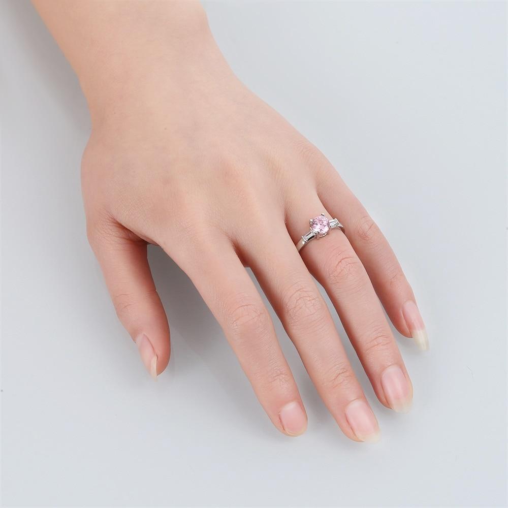 Legenstar 2018 Wholesale Wedding Rings For Women Pink AAA Zircon ...