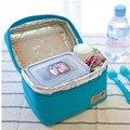 Impermeables Bento bolsa almuerzo bolsa contenedor térmico Insulated Cooler Bag Lunch comedor viajes bolsa Picnic totalizador de la cremallera ocasional