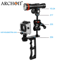 ARCHON D15VP+YS24+Z17+Z05+Z09 100m Waterproof Underwater Diving Light red white LED Diving torch kit For GoPro Hero 5 4 3