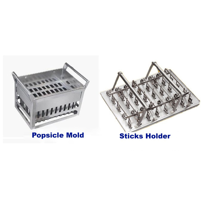 One Set of Stainless Steel Popsicle Mould for Ice Lolly Machine with sticks holder Ice lolly mold