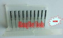 10 pcs 3mm 4mm 4 플루트 텅스텐 스퀘어 엔드 밀 나선형 비트 초경 cnc 엔드 밀 라우터 비트