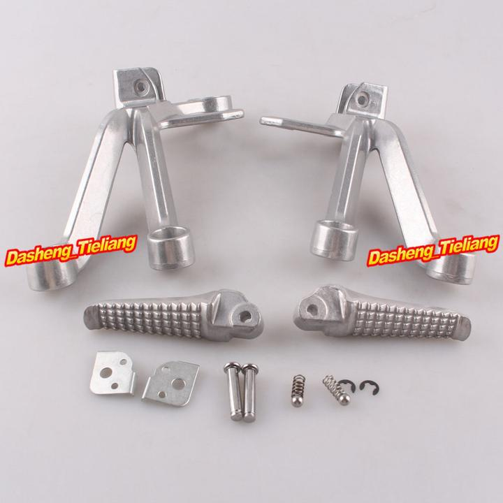 Aluminum Alloy Passenger Rear Foot Pegs Footrest Brackets for Suzuki GSXR 1000 03 04 font b