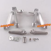 Aleación de aluminio Trasero de Pasajeros Estriberas Reposapiés Soportes para Suzuki GSXR 1000 03 04, motocicleta piezas de Repuesto Accesorios