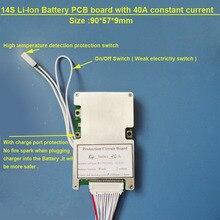 58.8 V bateria De Lítio PCB board com 40A 14 S corrente Constante para scooter elétrica Li ion ou Lipo 48 V BMS Da Bateria com interruptor