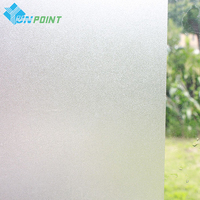 Waterproof PVC Frosted Wall Stickers Glass Window Film Self-Adhesive Wallpaper Bedroom Bathroom Office Glass DIY Decorative Film
