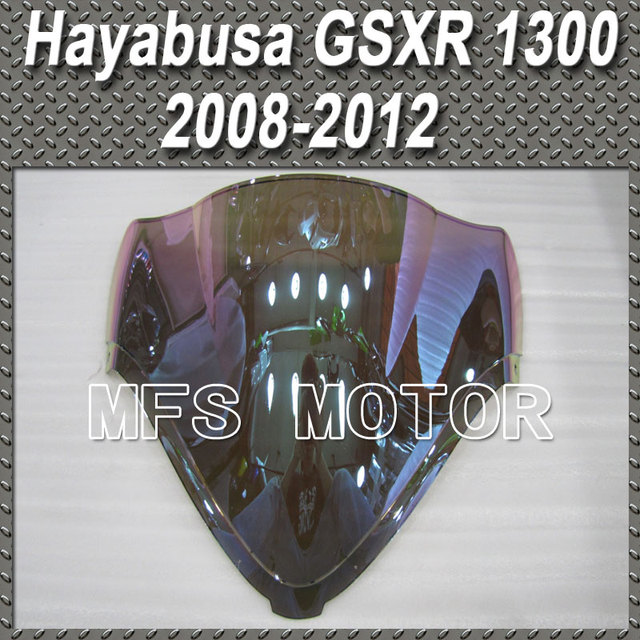 motor Magic color Double Bubble Windshield/Windscreen - iridium For Suzuki Hayabusa GSXR 1300 2008 2012 09 10 Motorcycle Part