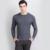 Grossas de inverno Homens Camisola O pescoço 100% Cashmere Pullovers Alta Grade Nova Ponte Quente Nobre Moda roupas Topos Padrão para masculino