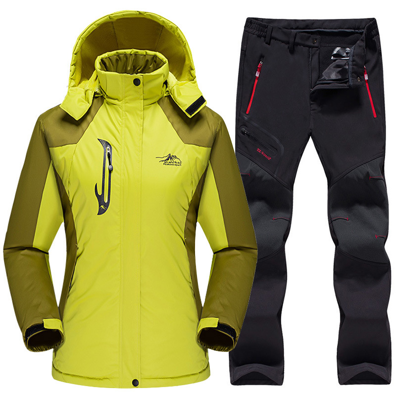 Mortonpart Imperméable Combinaison de Ski Veste de Ski Femme Pantalon Femme Hiver En Plein Air Ski Snowboard Veste Polaire Pantalon Snowboard Ensembles