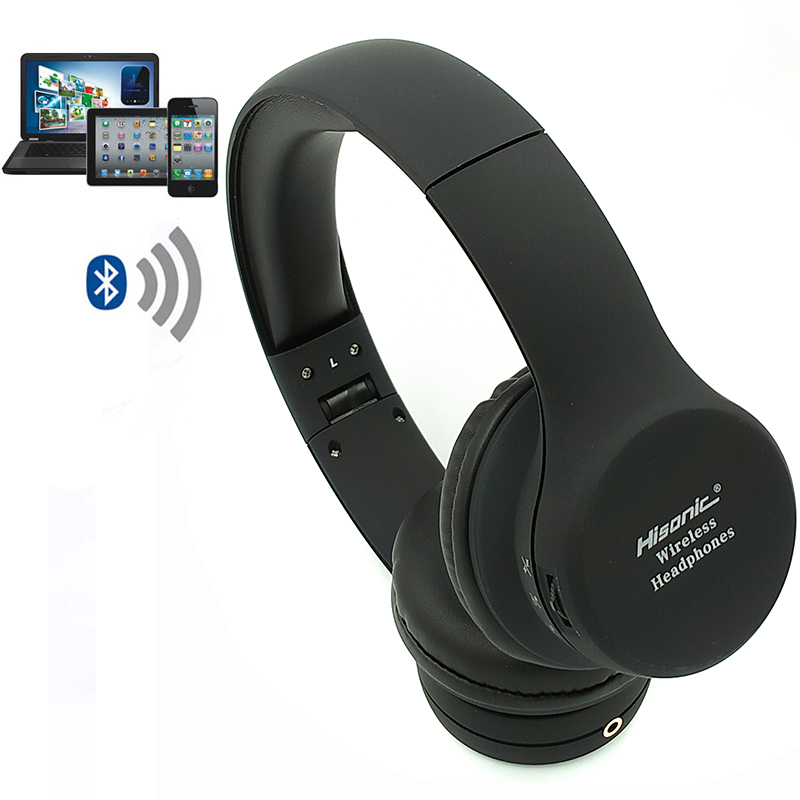 hisonic wireless bluetooth headphones headset 4 2 with noise ear earbuds earphone cancelling. Black Bedroom Furniture Sets. Home Design Ideas