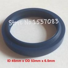 Hydraulic ram oil seal wiper seal polyurethane PU o-ring o ring 45mm x 53mm x 5mm x 6.5mm hydraulic ram oil seal wiper seal polyurethane pu o ring o ring 16mm x 24mm x 4 5mm x 6mm
