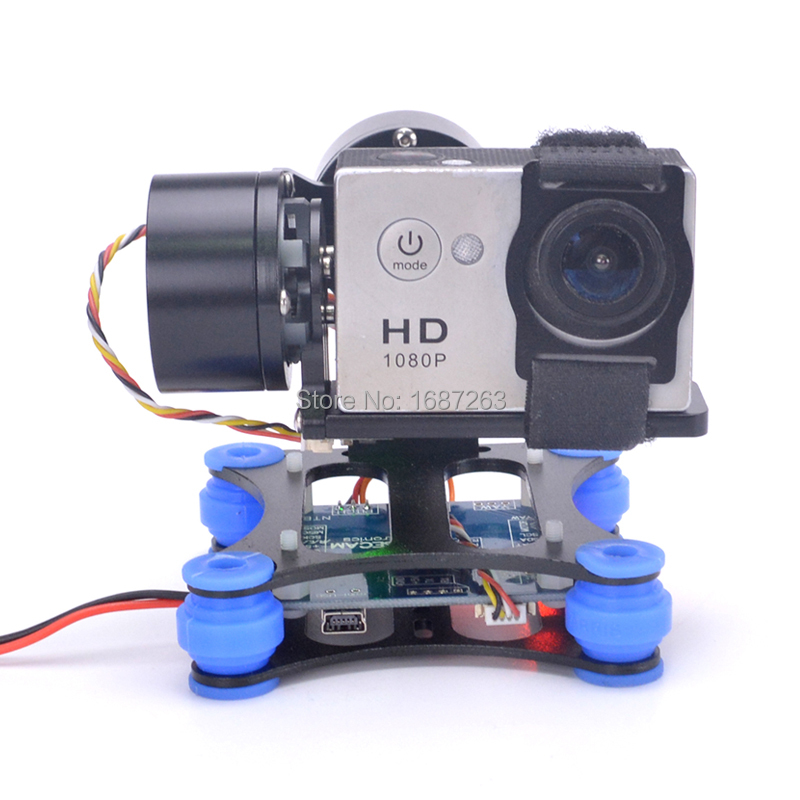 2 Axis Brushless Gimbal Frame 2208 Motors BGC Flight Controller for Gopro 3 4 SJ4000 Camera
