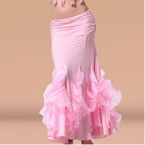 Image 3 - HOT SALE! new crystal cotton belly dance skirt for women belly dance crimping skirts  belly dance competition clothes
