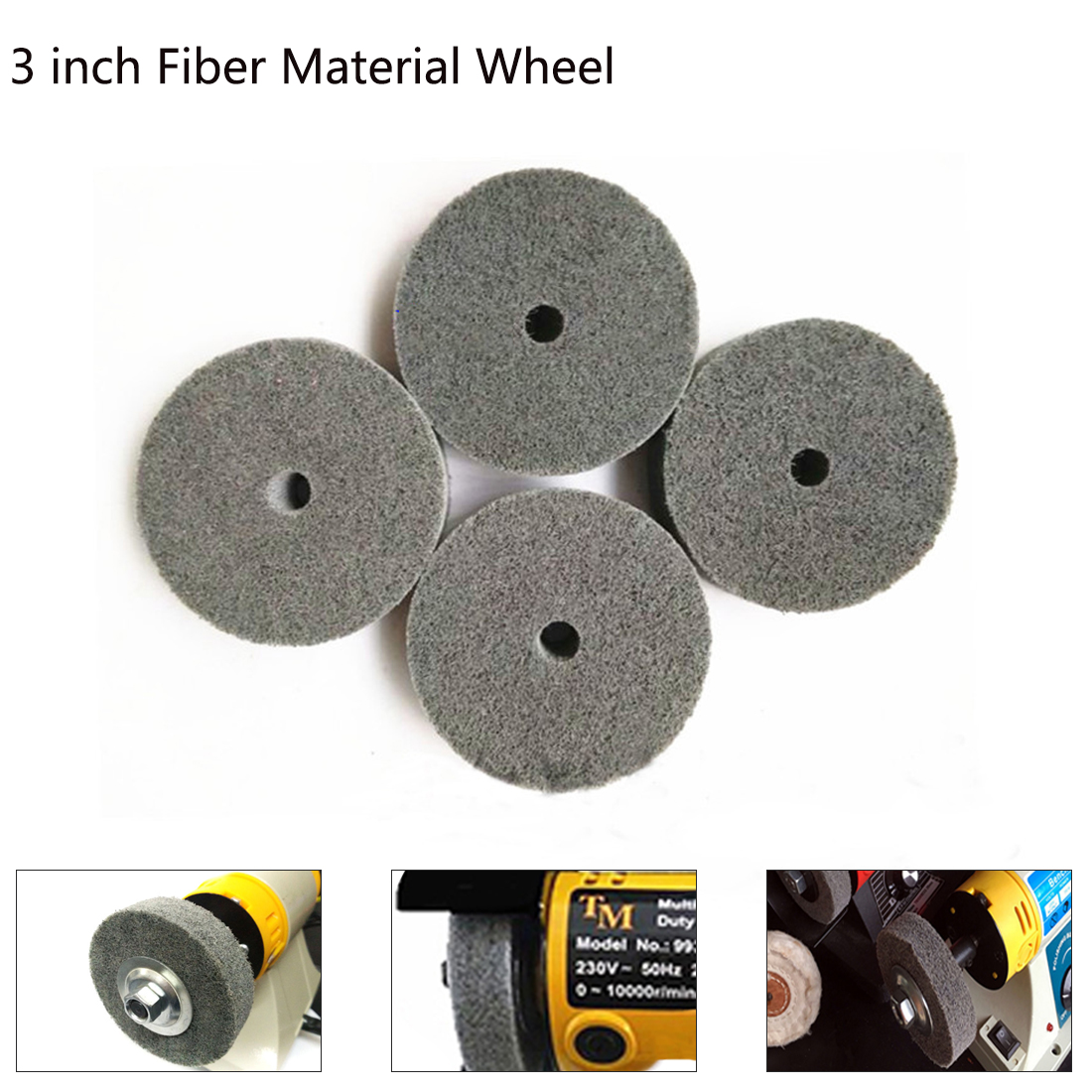 Efficient And Durable Metal Cutting Woodworking 3 Inch Nylon Wheel Fiber Wheel Felt Wheel Polishing Woodworking Tools Necessary