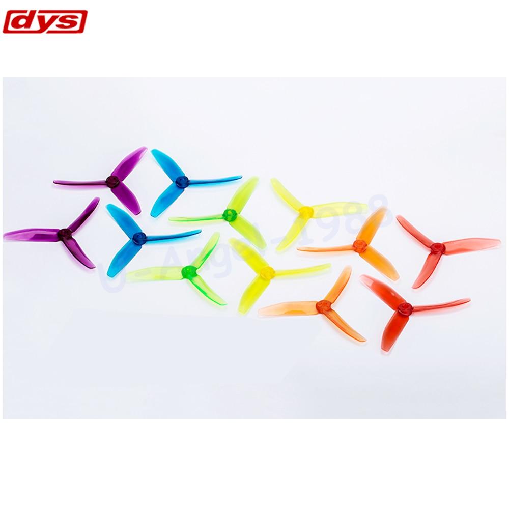 цена на 20pcs/lot Original DYS 5040 XT50403 Tri-Blade CW CCW Propeller FPV Prop PC Material w/ jelly color (10 pair)