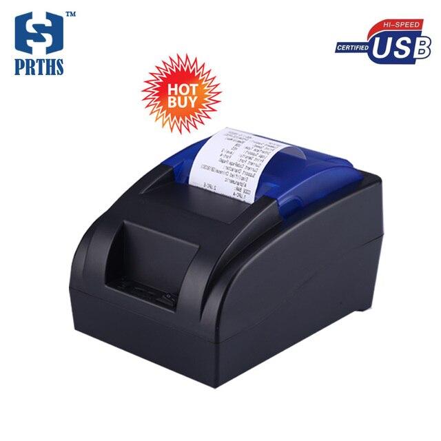 Дешевые 58 мм usb термальный чековый язык pos принтер доставка из россия с новым драйвером в CD легко печать для хранения HS-58HU