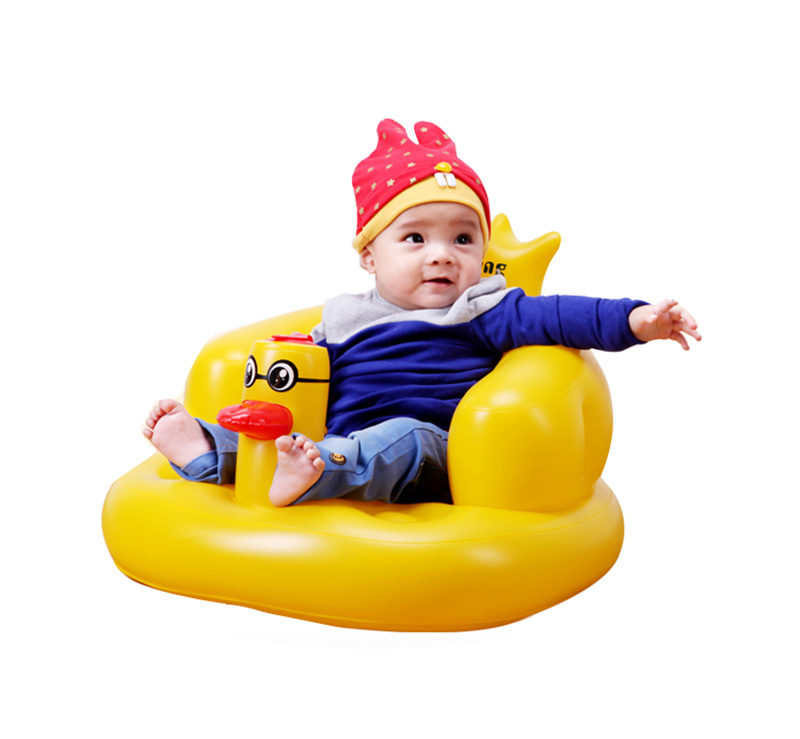 New baby chair small sofa cute duck Inflatable baby bath stools Baby ...