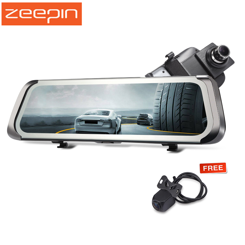 цена на ZEEPIN 9.35 inch Car DVR 1080P HD Dash Cam Rearview Mirror Dual Camera 140 Degree Car Driving Recorder Night Vision USB TF Card