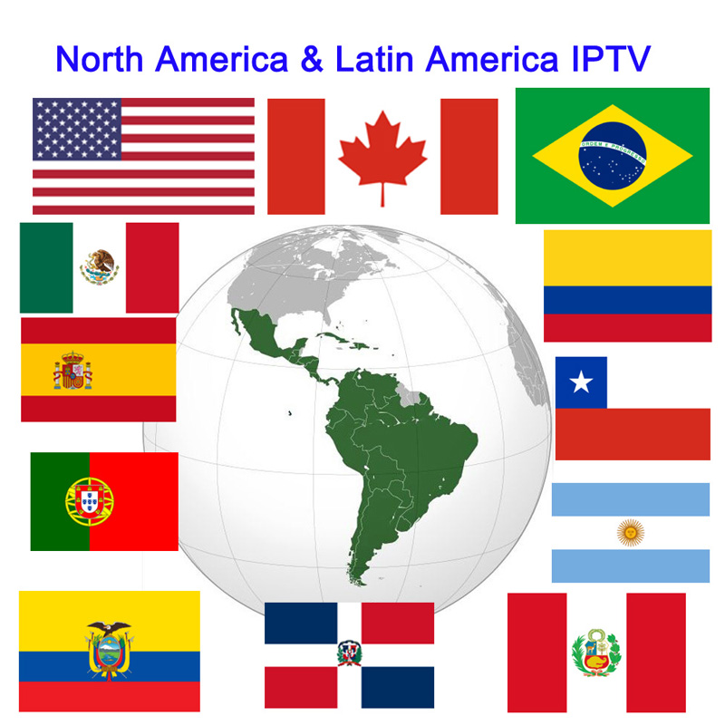 M8S PRO W 1 jaar abonnement USA Canada latino iptv Spanje Portugal kanalen Colombia Brazilië Chili ecuador Mexico TV Box-in Set-top Boxes van Consumentenelektronica op  Groep 1
