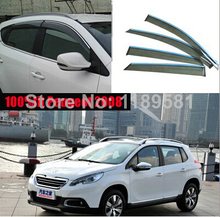 For Peugeot 2008 2014 2015 2016 Window Wind Deflector Visor Rain/Sun Guard Vent new