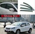 Para Peugeot 2008 2014 2015 2016 Ventana Deflector de Viento Del Visera Lluvia/Sol Guardia Vent nueva