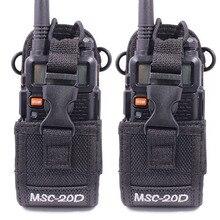 2Pcs MSC 20D Nylon Multifunctionele Bag Holster Draagtas Voor Baofeng UV 5R BF 888S UV 82 Tyt Walkie Talkie