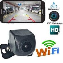 150°WiFi bezprzewodowy widok z tyłu samochodu kamera cofania WIFI kamera Dash Cam HD Night Vision Mini ciała tachografu dla iPhone Android