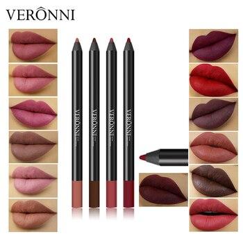 Delineador de labios Sexy para mujer, 13 colores, larga duración, labio mate...