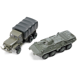 4D puzzles Model Kits 1:72 scale Sovie M35 Truck Soviet BTR80 Armored transport vehicle Assembly Military Model Toy boy Car Gift