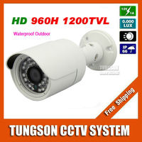 New Arrival CCTV Sony CCD 960H Effio 1200TVL Outdoor Video Surveillance 36LED Infrared White Mini Metal