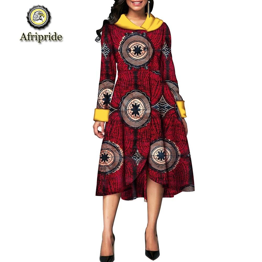 2019 robes africaines pour femmes AFRIPRIDE ankara imprimer dashiki bazin riche privé personnalisé pur coton cire batik S1825085