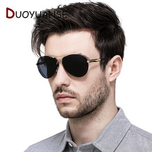 DUOYUANSE Fishing Polarized Sunglases 2666 Driver Driving Cheap Glasses  Men Male Alloy spectacle frame Sun 2019