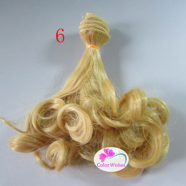 1pcs 15cm&25cm*100cm Pear rolls wigs Hair for dolls 1/4 1/3  BJD/SD golden \ brown and other colors