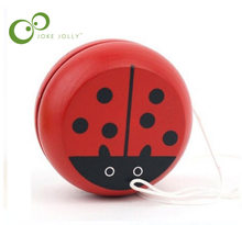 Red wooden Beetle yo-yo toys Professional Yoyo Toys High Precision Game Special Props WYQ(China)