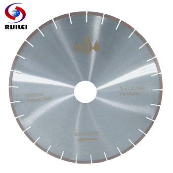 RIJILEI 450mm Marble Diamond Saw Blades Silent cutter blade for marble stone Sharp cutting circular Professional Cutting Tools