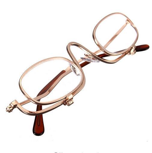 Kosmetik 10 Brille Objektiv 2 Teile Einstellbare Flip up Dual Frauen Make 3x Unten Vergrößerungs los Gläser TPa1Wv0O