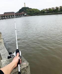 Image 4 - 1.8 2.4m short carbon ultralight bait casting fishing rod combo 17+1BB 6.3:1 left right reel  lure boat rock stick pesca pole