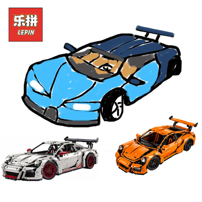 New Lepin 20001 Technic Series 20001B 20086 super car Set Model Building Blocks Bricks Compatible Legoinglys Technic Toys 42056