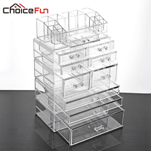 CHOICE FUN Acrylic Makeup Organizer Cosmetic Organizer Storage Makeup Organizer Multifunction Storage Box SF-20143-4521