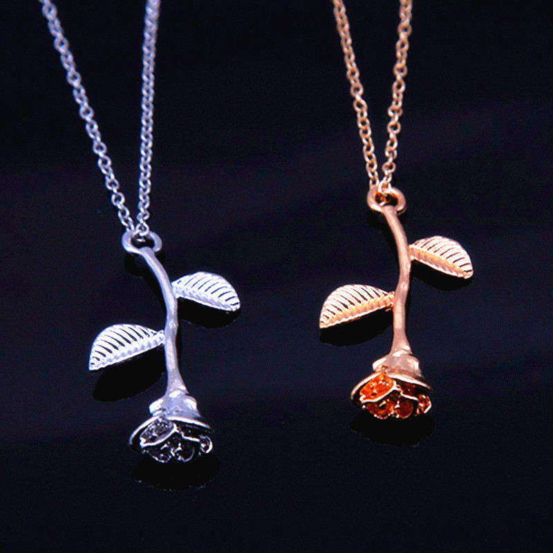 Bijoux Collier Femme 2018 New Pink Rose Gold Flower Choker Statement Necklace Women Charm Maxi Boho Jewelry