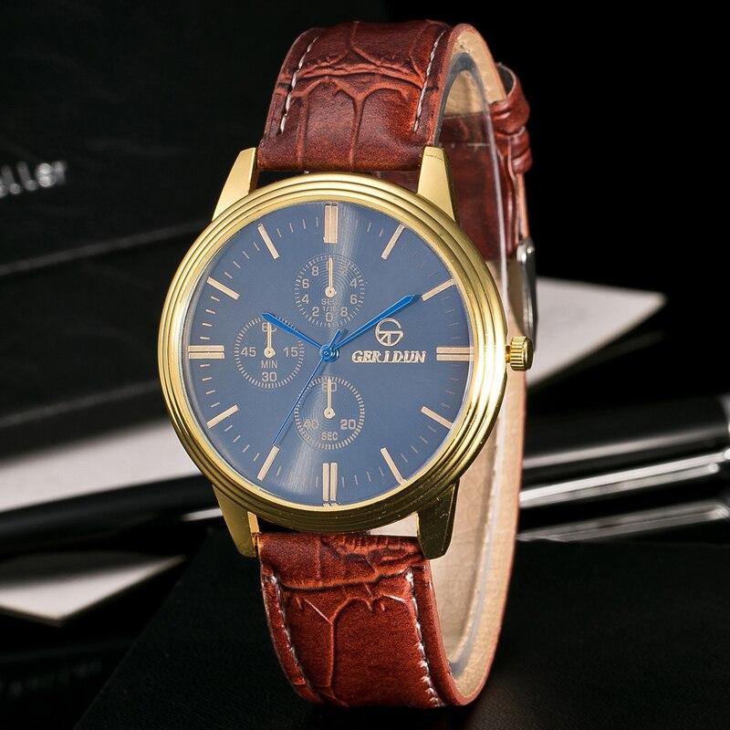 Bestverkopende Militaire Horloges Herenmode Gestreept Leer Kwarts - Herenhorloges - Foto 3