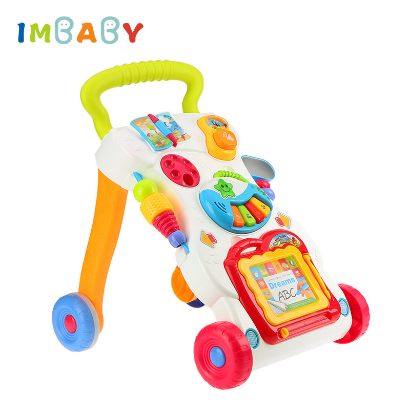 все цены на IMBABY Multifunctional Baby Walkers With Water Tank Car Toddler Trolley Sit-to-Stand Walker for Kid's Learning Baby Wallker